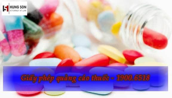 giấy phép quảng cáo thuốc